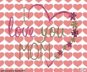 Puzle Miluji tě máma