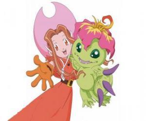 Puzle Mimi s ní Digimon palmon, Mimi Tachikawa má znak čistoty či neviny