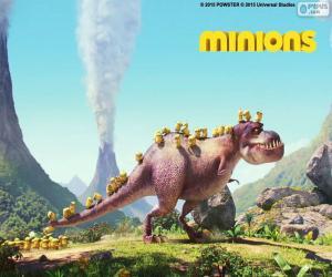 Puzle Mimoni s dinosaurem