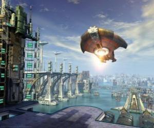 Puzle Mimozemské kosmické lodě nebo létající UFO