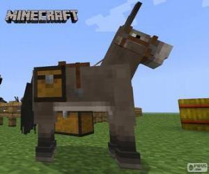 Puzle Minecraft kůň