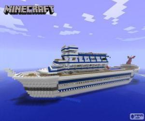 Puzle Minecraft výletní loď