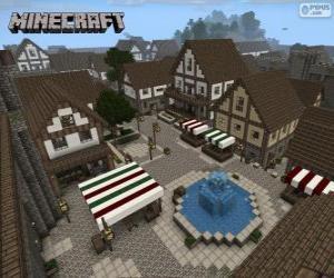 Puzle Minecraft vesnice