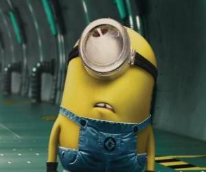 Puzle Minion jednoho oka, malý humanoid protagonista Gru, můj oblíbený darebák