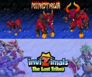 Puzle Minotaur, nejnovější vývoj. Invizimals The Lost Tribes. Nebezpečné a divokým invizimal, který utekl z bludiště