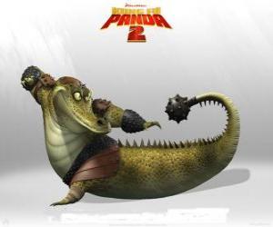 Puzle Mistr Krokodýl vedoucí učitelka nechvalně kapely Krokodýli