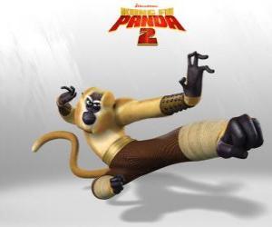 Puzle Mistr Opičák je akrobatické, hravý, vtipný, nepředvídatelné, rychlý a energický.