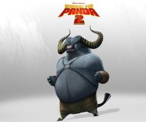 Puzle Mistr Zuřivý Tur je nejlepší student Mistr Hromový Nosorožec. Jeho rohy jsou jeho nejnebezpečnější zbraň