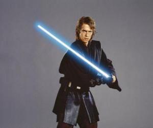 Puzle Mladý Anakin Skywalker s jeho světelný meč