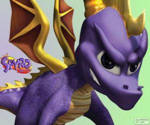 Puzle Mladý drak Spyro, hlavní protagonista Spyro Dragon videohry