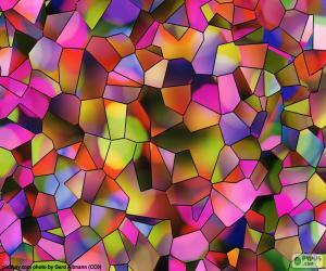 Puzle Mnohoúhelníky barev