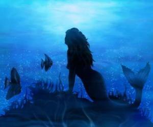 Puzle Mořská panna, nebo sirény na mořské dno