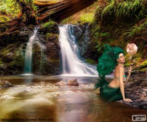 Puzle Mořská panna v řece
