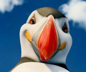 Puzle Mocný Sven, papuchalk atlantský, který může létat