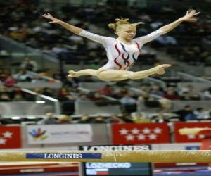 Puzle Moderní gymnastika - Cvičení na kladině