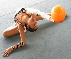 Puzle Moderní gymnastika - Koule nebo cvičení míč