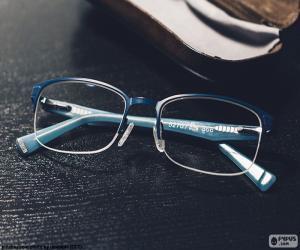 Puzle Modré brýle