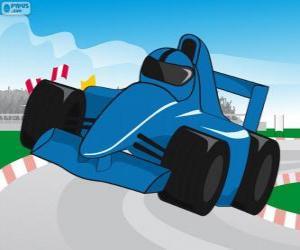 Puzle Modré F1 závodní auto