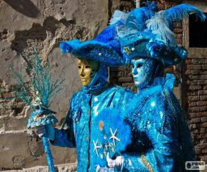 Puzle Modré kostýmy
