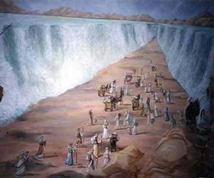Puzle Mojžíš rozdělit vodách Rudého moře v exodus židovského národa