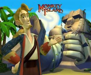 Puzle Monkey Island, dobrodružné videohry. Guybrush Threepwood, hlavní hráč