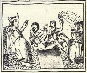 Puzle Montezuma v trůnu. Huey Tlatoani, vládce dávné aztécké lidí