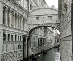 Puzle Most vzdechů, Itálie