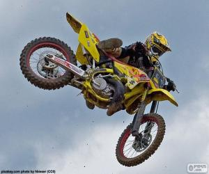 Puzle Motokros skok