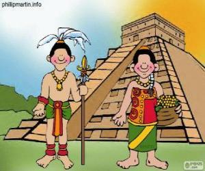 Puzle Muž a žena mayské