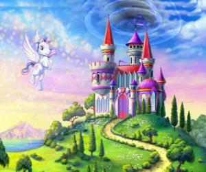 Puzle My Little Pony flying poblíž hradu