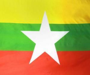 Puzle Myanmarská vlajka