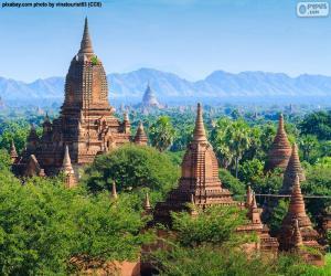 Puzle Náboženské stavby Bagan, Myanmar