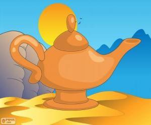 Puzle Nádherné lampa. Kouzelná lampa