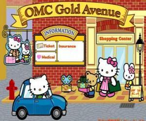 Puzle Nákupní den s Hello Kitty a přátelé