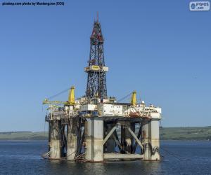 Puzle Námořní ropná plošina