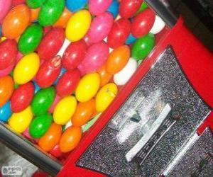 Puzle Nápojový automat žvýkačka míč
