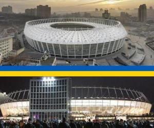 Puzle Národní sportovní komplex Olimpijskyj (69.055), Kyjev - Ukrajina