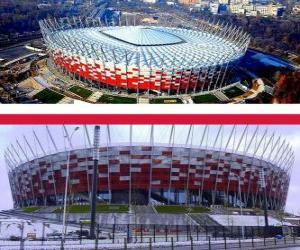 Puzle Národní stadion, Varšava (58.145), Varšava - Polsko