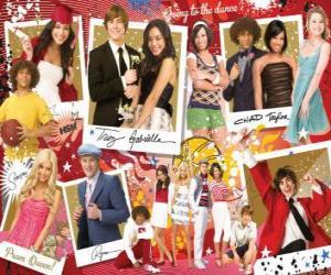 Puzle Několik fotografií z High School Musical 3