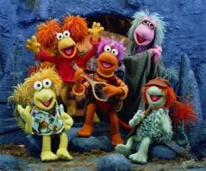 Puzle Několik Muppets zpěv