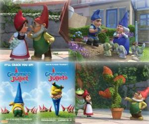 Puzle Několik obrázků z Gnomeo a Julie