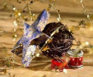 Puzle Několik vánoční ozdoby