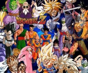 Puzle Některé postavy z Dragon Ball