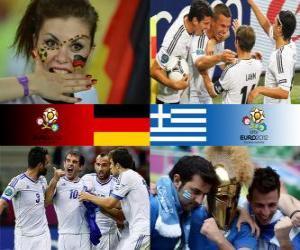 Puzle Německo - Řecko, čtvrtfinálové, Euro 2012