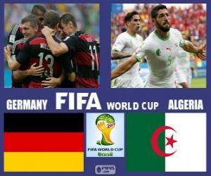 Puzle Německo - Alžírsko, osmé finále, Brazílie 2014