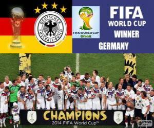 Puzle Německo, mistr světa. Brazílie 2014 mistrovství světa ve fotbale