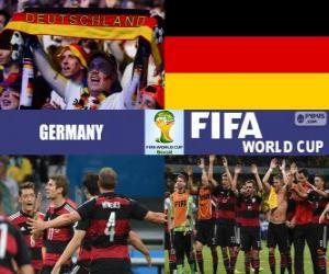 Puzle Německo slaví své klasifikace, Brazílie 2014