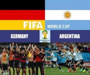 Puzle Německo vs Argentina. Finále FIFA Mistrovství světa ve fotbale Brazílie 2014