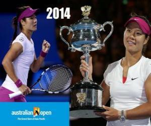 Puzle Na Li šampion otevřené Austrálie 2014