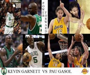 Puzle NBA finále 2009-10, Power vpřed, Kevin Garnett (Celtics) vs Pau Gasol (Lakers)